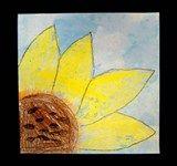 Artsonia Art Exhibit :: 1 Watercolor Resist Sunflower, based on Van Gogh's sunflowers