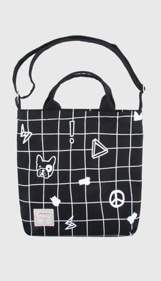 Fashiontroy Hipster & indie blue cartoon printed cotton tote bag