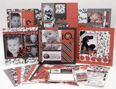 Asian influence scrapbook layouts