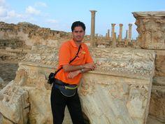 Frédéric Mathieu in Sabratha Archeological Site, Libya (17/10/2006)
