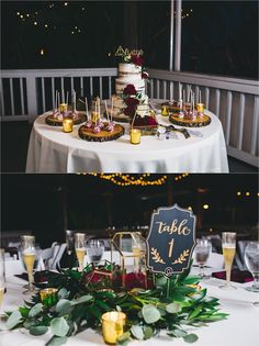 wedding cake and centerpieces at paradise cove orlando