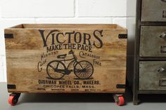 Wooden Storage Crate On Wheels - Extra Large, £55.00