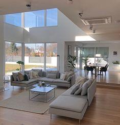 Scandinave home . Home Room Design, Dream Home Design, Modern House Design, Home Interior Design, Living Room Designs, Living Spaces, Interior Decorating, Dream House Interior, Luxury Homes Dream Houses