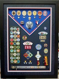 Shadow Box idea for Scout awards.