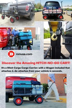 It's a Hitch Cargo Cargo Carrier; with a Wagon included that attaches & de-attaches from your vehicle in seconds.