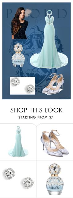 """""""Ravenclaw Yule Ball"""" by emmalineavery ❤ liked on Polyvore featuring Celeste, Jimmy Choo and Marc Jacobs"""