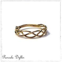 Bague anneau elfique ajustable feuille de lierre argent taille 50 et ...