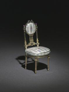 Fabergé Miniature Chair, 1896-1906  firm of Peter Carl Fabergé (Russian, 1846-1920)