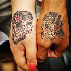 Ink Your Love With These Creative Couple Tattoos paar Tattoo-Ideen Sexy Tattoos, Bild Tattoos, Trendy Tattoos, Unique Tattoos, Small Tattoos, Cool Tattoos, Awesome Tattoos, Creative Tattoos, Tatoos