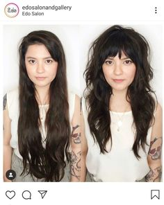 It s never too late for a dramatic transformation coastalhair_sf hairgoals hairdressermagic salonlife hairtrends sexy Curly Hair Styles, Medium Hair Styles, Hair Fringe Styles, Hairstyles With Bangs, Cool Hairstyles, Long Shag Hairstyles, Hairstyle Ideas, Easy Hairstyle, Long Hairstyles With Layers