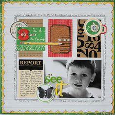 Great grid layout (artist Jenni Hufford). She does lovely work!