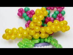 Цветок мимоза из шаров / Mimosa flower of balloons - YouTube