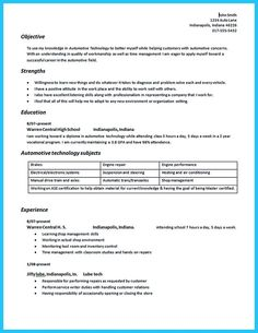 awesome Delivering Your Credentials Effectively on Auto Mechanic Resume,