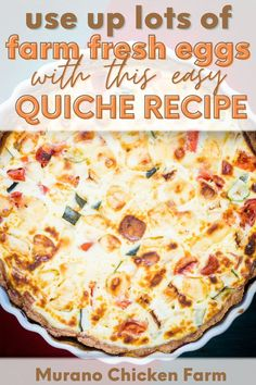 Quiche Recipes, Egg Recipes, Dessert Recipes, Easy Quiche, Frugal Meals, Grow Your Own Food, Chickens Backyard, Base Foods, Healthy Chicken