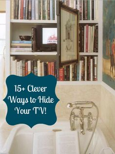 Cool ideas for how to hide your TV