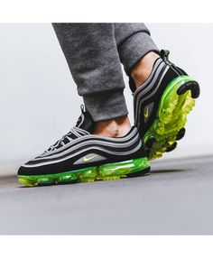 8454b807bc8c Nike Air Max Vapormax 97 Mens Japan Black Volt Trainers Nike Clearance