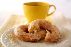 Can this be lunch? >> Double Lemon Glazed Doughnuts from www.chocolatemoosey.com