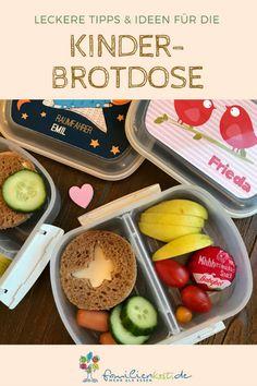 Ideen für die Brotdose in Kindergarten und Schule