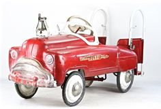 Vintage Fire Truck Pedal Car, Murray Sad Face Fire Truck Pedal Car,  1951 Fire Engine Pedal Car, 1950's Pedal Car, City Fire Dept Pedal Car by HuntandFound on Etsy