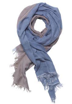 yoga care by me tørklæde scarf cashmere silke silk blå blue naturfarvet natur beige brun brown sustainable bæredygtig social ansvarlighed udviklingslande nepal