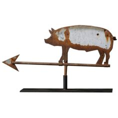 Pig Weathervane | From a unique collection of antique and modern weathervanes at http://www.1stdibs.com/furniture/folk-art/weathervanes/