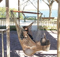 You will love to make yourself a gorgeous Macrame Hammock and it's so easy when you know how. Check out the Knitted Swinging Chair Cocoon too.