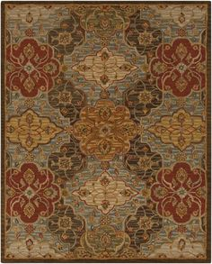 Custom size about $2000 Warm, inviting coloring in shades of browns and gold, will fashion a lasting look in your room redefining your space in classically timeless trend. Featuring a classic design with subtle hints of floral and damask patterns, this piece will remain a...