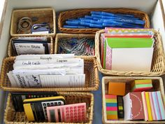Basket organizing!    http://www.momtastic.com/home-and-living/home/167379-organize-your-desk-drawer-pick-a-style