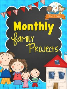 Printable Monthly Family Projects for Preschool