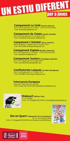 Estiu Jove 2013 a Quart de Poblet #Estiu2013aQuart http://quartjove.quartdepoblet.es/index.php/estiu-jove-2013-a-quart-de-poblet/