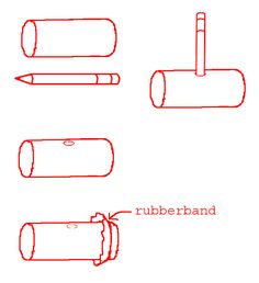 Build a kazoo with a tp roll, plastic bag, and a rubber band!