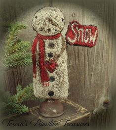 Standing Snowman Punch Needle $8.00