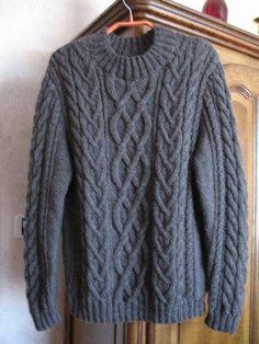 modele tricot pull irlandais homme