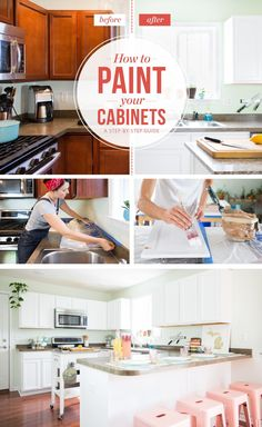How To Paint Your Kitchen Cabinets So It Looks Like You Totally Replaced Them — How To