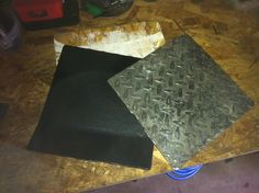 Homemade torque box diamond plates ready to weld on
