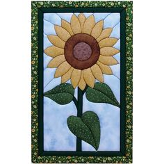 Sunflower Quilt Magic No Sew Wall Hanging Kit at HSN
