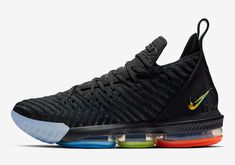 LeBron James Nike LeBron 16 I Promise Features The Schools Signature Colors Nike Lebron, Lebron 16, Lebron James, Zapatillas Nike Basketball, Basketball Sneakers, Air Max Sneakers, Sneakers Nike, Sport Mode, Nike Pas Cher