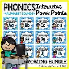 Your students will love this GROWING alphabet PowerPoint pack, it's bright, engaging, multi-sensory, and it promotes active learning. The interactive activities, animation, and sound clips are sure to engage your kindergarten and first grade students!