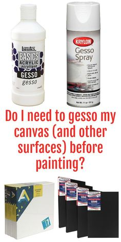 Do I need to gesso my canvases and other surfaces before painting with acrylic paints or fluid acrylics