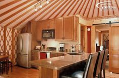 Yurt Floor Plans with Loft | Oh my Lord. This is a gorgeous yurt kitchen. Photo credit.