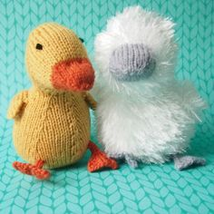 Baby swan / Baby Duckling knitting pattern from Browneyedbabs Knits, $2.99