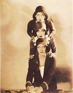 """Joan Crawford, Dorothy Sebastian,and Anita Page in """"Our Dancing Daughters"""" 1928"""