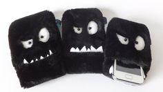 Monster Handyhülle Blacky in verschiedenen Größen von Sofeinsein auf DaWanda.com