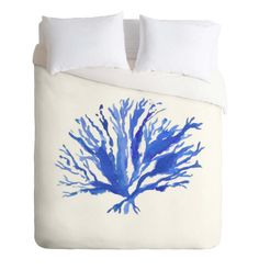 Coastal Living Everyday! Sea Coral Duvet Cover in a coastal watercolor design. Add a pop of color to your bedroom decor. Available in Twin/Queen/King
