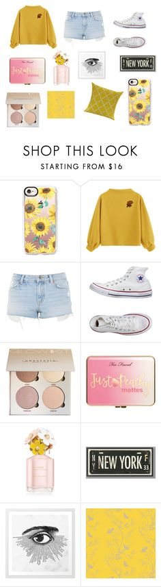 """""""sunflower — aesthetic"""" by lilyomq on Polyvore featuring Casetify, Topshop, Converse, Just Peachy, Marc Jacobs, PBteen and Timorous Beasties"""
