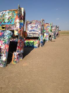Cadillac Ranch, Amarillo Texas.  Photo by Kim Whitaker, Texas