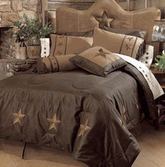 Laredo Chocolate Bedding Collection-Love the Headboard