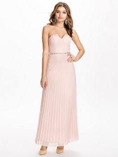 Embellished Waist Bandeau Maxi Dress - Elise Ryan - Nude - Party Dresses - Clothing - Women - Nelly.com Uk