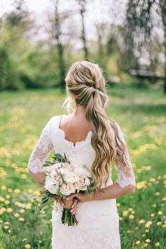 Country Rustic Home on the Farm Wheat Filled Wedding | Plaits, Rustic ...
