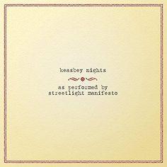 Streetlight Manifesto - Keasbey Nights